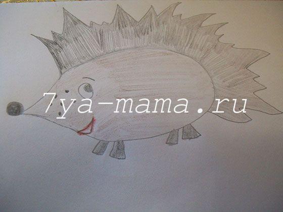 как нарисовать ежика карандашом поэтапно для детей