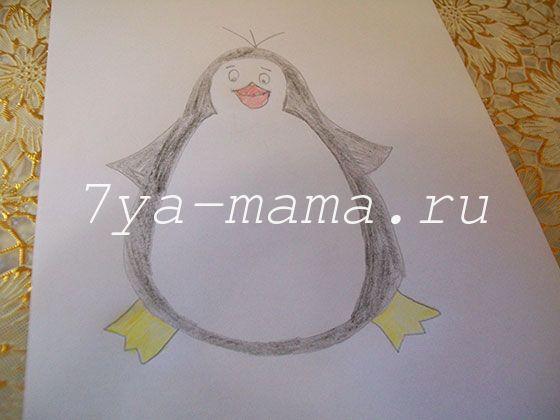 как нарисовать пингвина поэтапно карандашом для детей