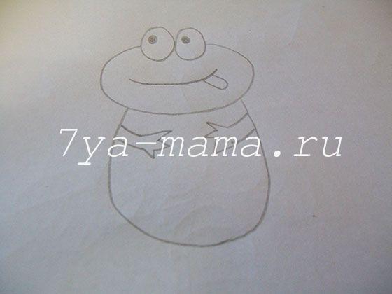 как нарисовать лягушку поэтапно карандашом для детей