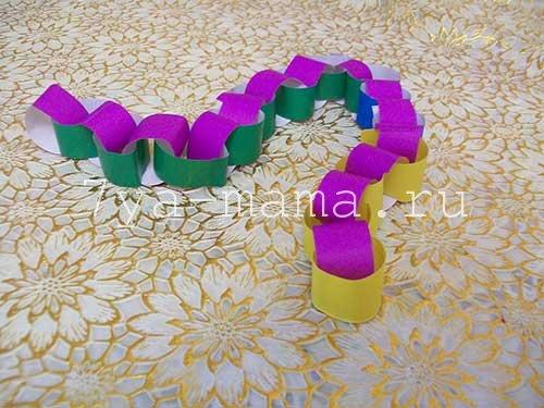 новогодние гирлянды из цветной бумаги своими руками для детей
