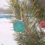 Ледяные игрушки на елку своими руками