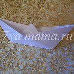 Изготовление кораблика из бумаги (оригами)