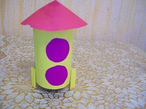 Ракета из бумаги и картона своими руками
