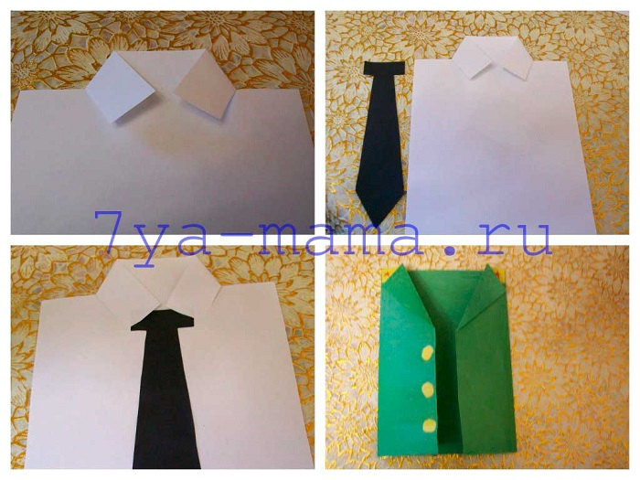 Оригами подарок папе рубашка 76