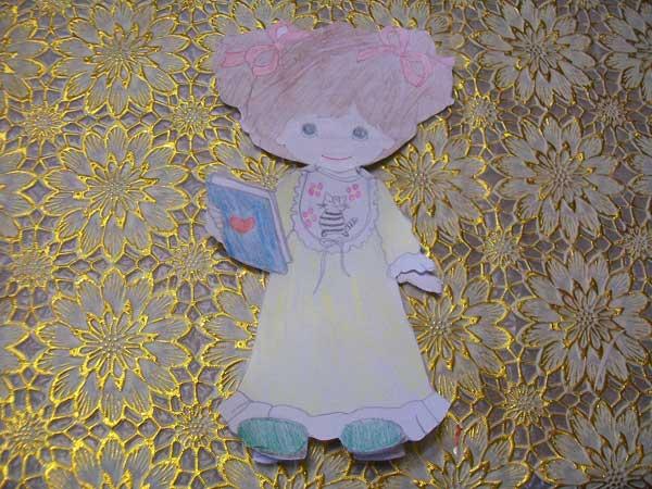 Кукла с одеждой для вырезания (5)