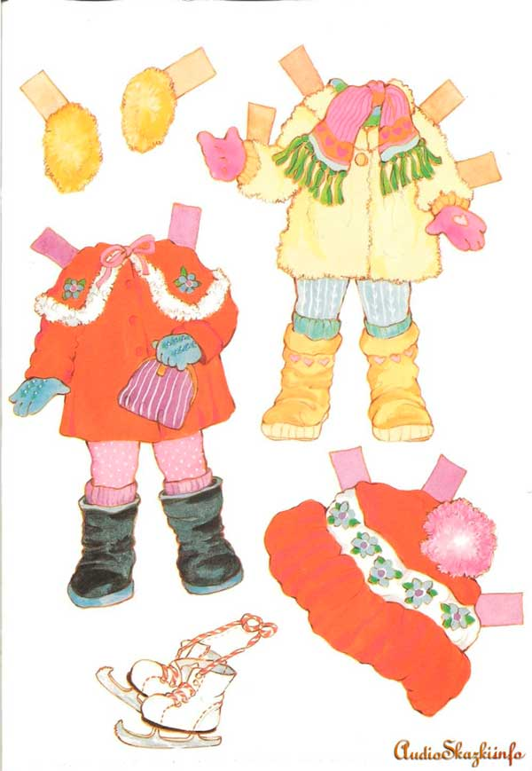 кукла из бумаги с одеждой для вырезания
