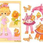 Игрушки своими руками для девочек: кукла из бумаги с одеждой для вырезания