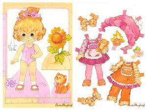 куклы из бумаги с одеждой для вырезания