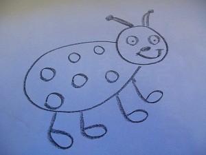 как нарисовать божью коровку, нарисовать божью коровку поэтапно, как нарисовать божью коровку карандашом