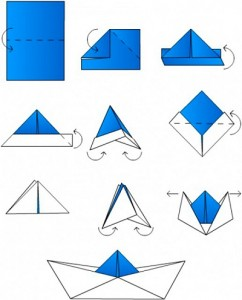 краблик из бумаги оригами схема