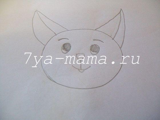 как нарисовать котенка карандашом поэтапно