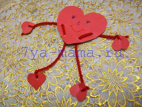 Валентинка-своими-руками-для-детей-из-бумаги