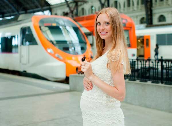 Поезд - лушее транспортное средство для поездки на море беременной