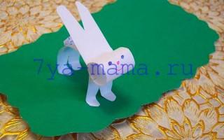 Как сделать из бумаги зайчика своими руками