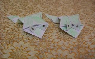 Прыгающая лягушка из бумаги (оригами)