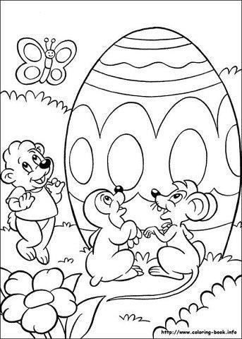 пасхальные раскраски для детей (2)
