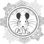 Трафареты крысы (мыши) на окно к Новому году 2020 для вырезания из бумаги